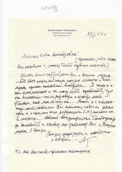 30 Kerensky, Alexandre Fiodorovitch (1881-1970)....