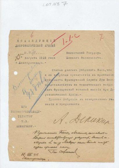 7 Dénikine, Anton Ivanovitch (1872-1947),...