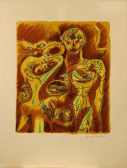 25 André MASSON (1896 – 1987) Couple Alchimique,...