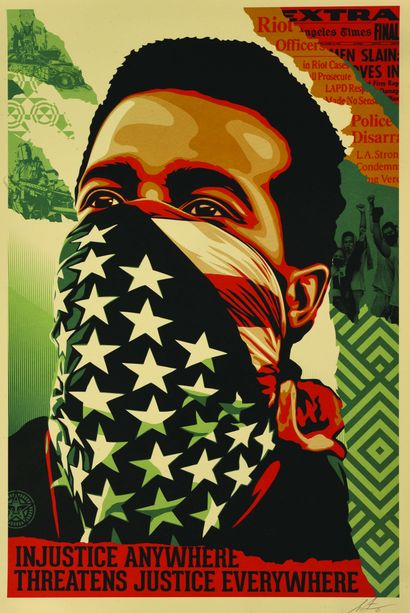 03 Shepard FAIREY (né en 1970) American Rage,...