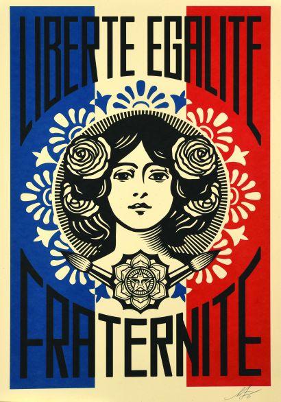 10 Shepard FAIREY (né en 1970) Liberté, Égalité,...