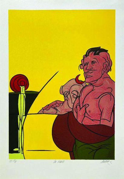 14 Valerio ADAMI (Né en 1935) Sans titre...