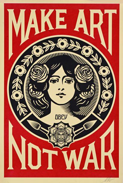 08 Shepard FAIREY (né en 1970) Make Art Not...