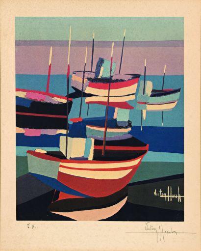 26 Victor HASCH (1945 – 2012) Les bateaux...