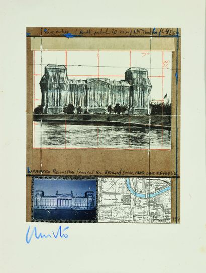 20 CHRISTO (1935 – 2020) Reichstag Photolithographie,...