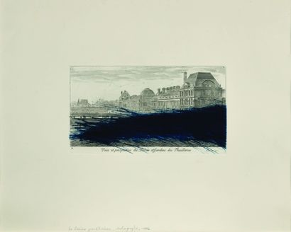 19 Arnulf RAINER (Né en 1929) Vue et perspective...