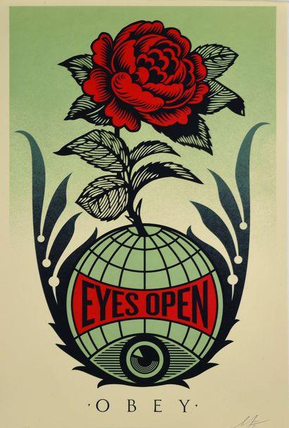 09 Shepard FAIREY (né en 1970) Eyes Open,...