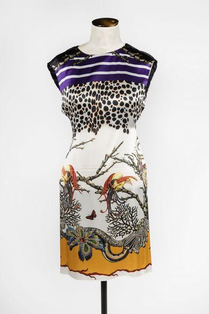 ROBERTO CAVALLI : robe chasuble sans manche...