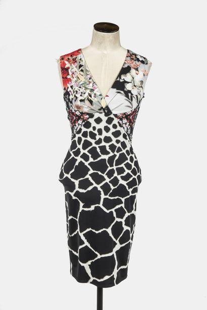 ROBERTO CAVALLI : robe en viscose sans manche...