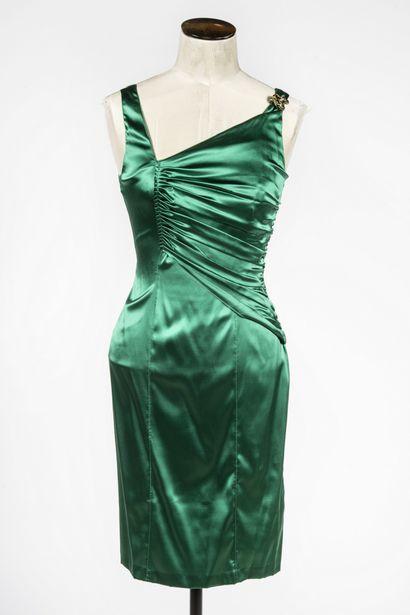 ROBERTO CAVALLI : robe de soirée en soie...