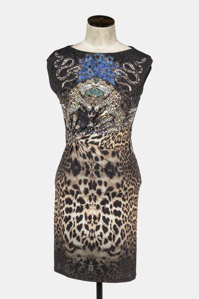 ROBERTO CAVALLI : robe sans manche en viscose...
