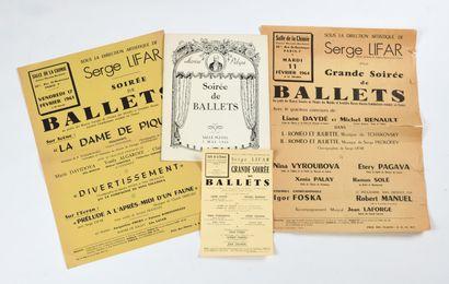 Ensemble de 3 affiches de ballet et d'un...