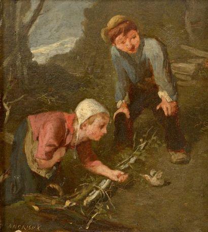 ANDRIEUX (actif vers 1900), dans le goût de LANFANT DE METZ