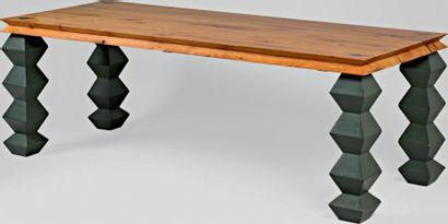 Grande table de salle à manger rectangulaire,...