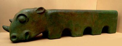 Rhino Carton. Hauteur: 50 cm Longueur: 210...
