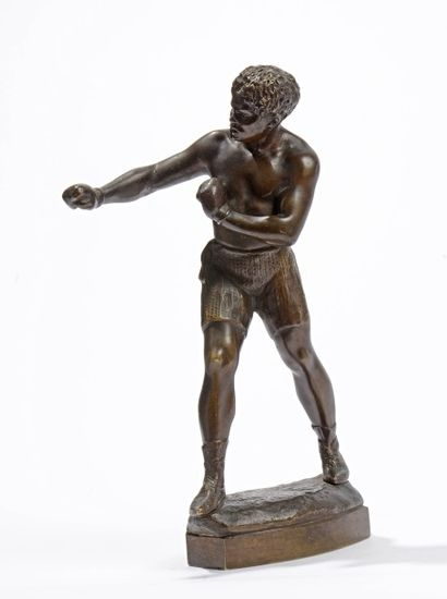 27 Ecole française du XXe siècle Boxeur Bronze...