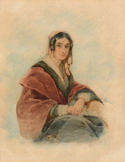 DUBUFE Edouard-Louis (1819-1883), attribué à