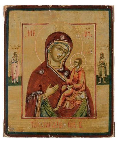 Icône représentant la Vierge de Tikhvine....