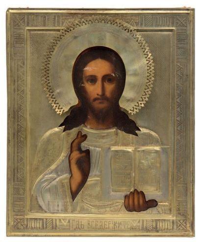 Icône représentant le Christ Pantocrator....