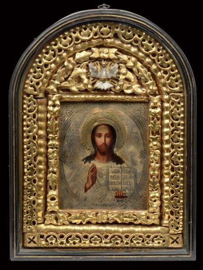 Belle icône représentant le Christ Pantocrator....