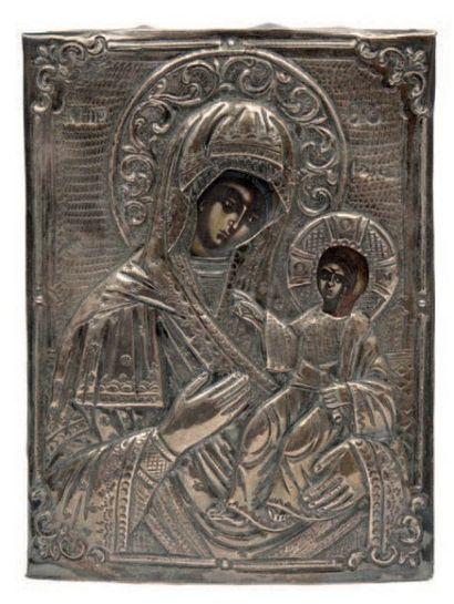 Icône représentant une Vierge à l'Enfant...