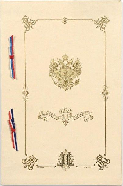 Visite de Nicolas II en France (1901). Rare...