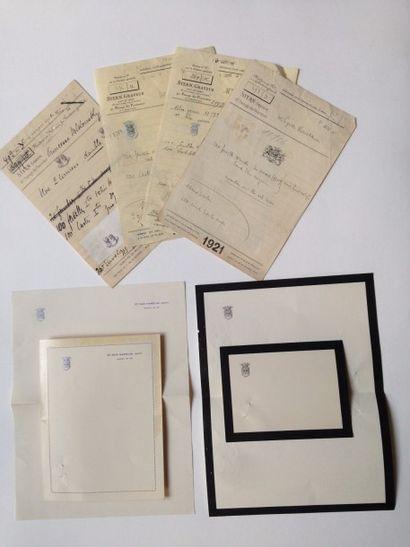 Famille NARYCHKINE Lot de 3 factures éditées...
