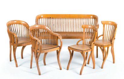 Mobilier de salon d'été en bois courbé, les...