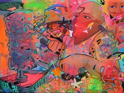 IEA NE 1985 SAUCE BERBERE - 2017 Spray acrylique...