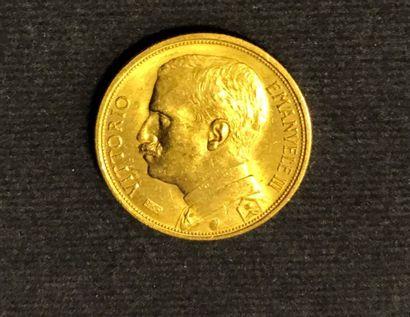 1 pièce or de 20 lires - 1912 - usures. Pb.:...