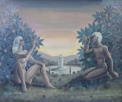 36 Albert REISS (1909-1989) Adam et Eve Huile...