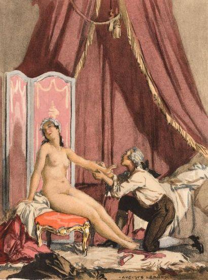 37 Auguste LEROUX (1871-1954) L'amoureux...