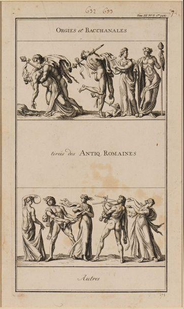 5 Orgie et bacchanales tirées des antiques...