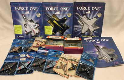 ERTL – FORCE ONE – PLAYME: lot d'avions...