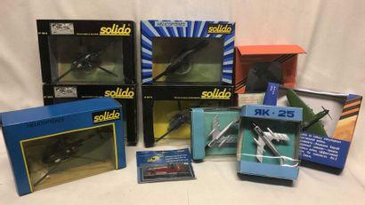 SOLIDO– jouets russes: lot d'avions militaires...