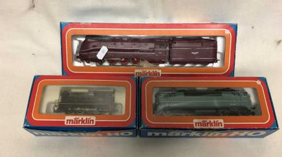 MARKLIN «HO»: quatre motrices et locomotives...