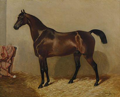 27 Louis Robert HEYRAULT (1840-1880) Cheval...