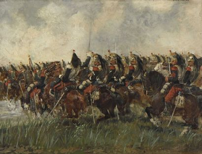 32 Jules DELAUNAY (1845-1906) Charge de la...