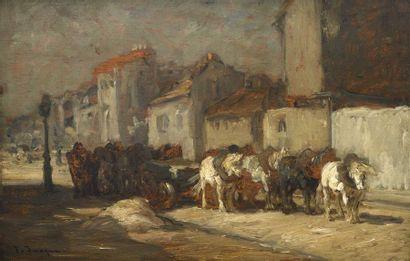 34 Frédéric JACQUES (Paris, 1859-1931) Attelage...