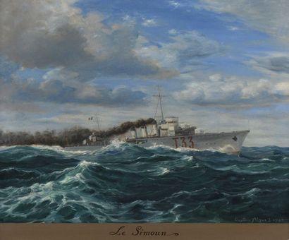 38 Gustave ALAUX (1887-1965) Le Simoun Huile...