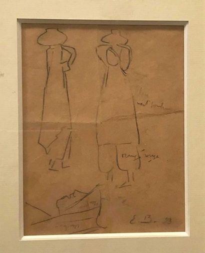 48 Emile BERNARD (1868-1941) Deux porteuses...