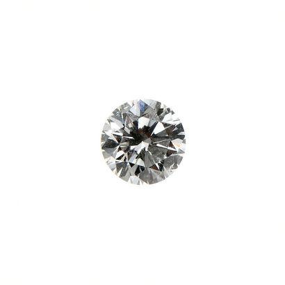 Diamant naturel. Poids: 0,46 ct Avec ce...