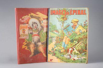 Deux albums d'imageries d'Epinal dédicacés...