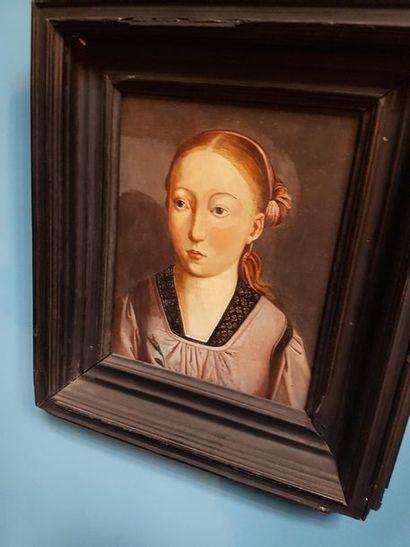 D'après MEMLING, XIXème siècle. «Portrait...