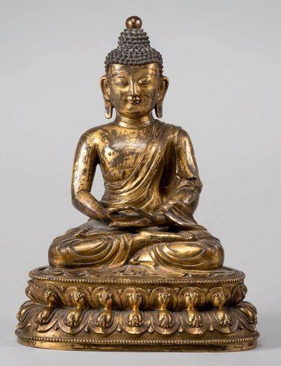 Très rare sculpture de Bouddha Amitabha en...
