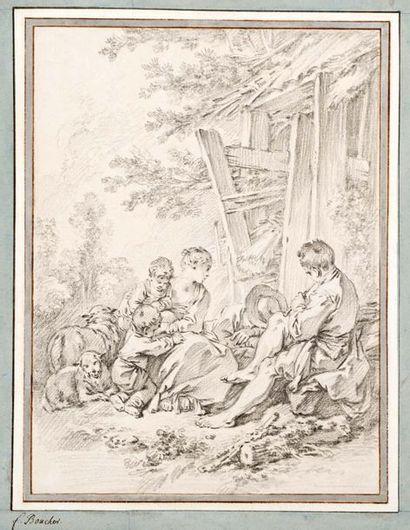 Ecole Française du XVIIIème siècle Le repos...