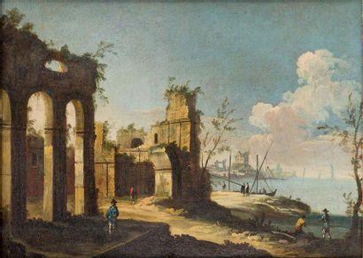 Apollonio DOMENICHINI, ex-MAÎTRE des vues de la FONDATION LANGMATT (Actif à Venise vers 1740-1770)