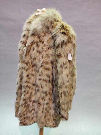 *FLO Fourrures  7/8 en Lynx du Montana, petit...