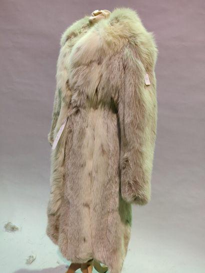 *ARONAUD  Manteau en Renard Bleu lustré Lynx,...