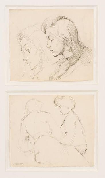 Marie LAURENCIN (1885-1956)  Les deux fillettes...